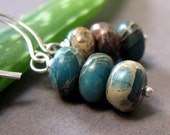 Aquaterra Earrings - Variscite and Sterling Silver