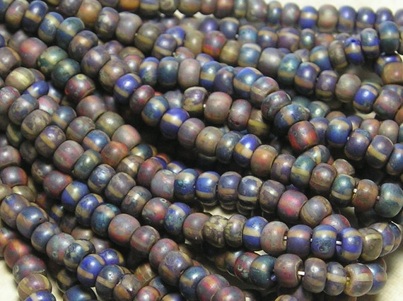6/0 Opaque Atlantis Picasso Mix Firepolished Czech Glass Seed Beads 1 Strand