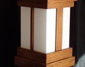 Japanese-style Shoji Lamp - Mission Style - Oak with Mission Stain-original design