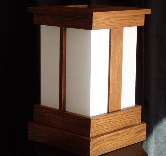 Japanese Style Shoji Lamp Mission Style Oak With Mission
