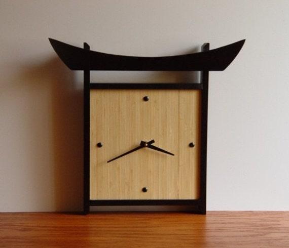 Japanese Style Bamboo Wall Clock