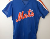Vintage New York METS old school baseball jersey Made In USA