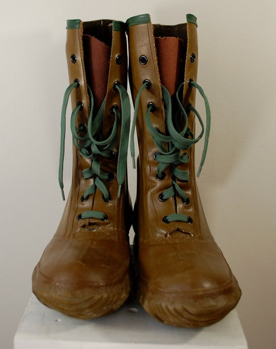 Vintage Northerner Rubber Hunting Boots Union Made Usa