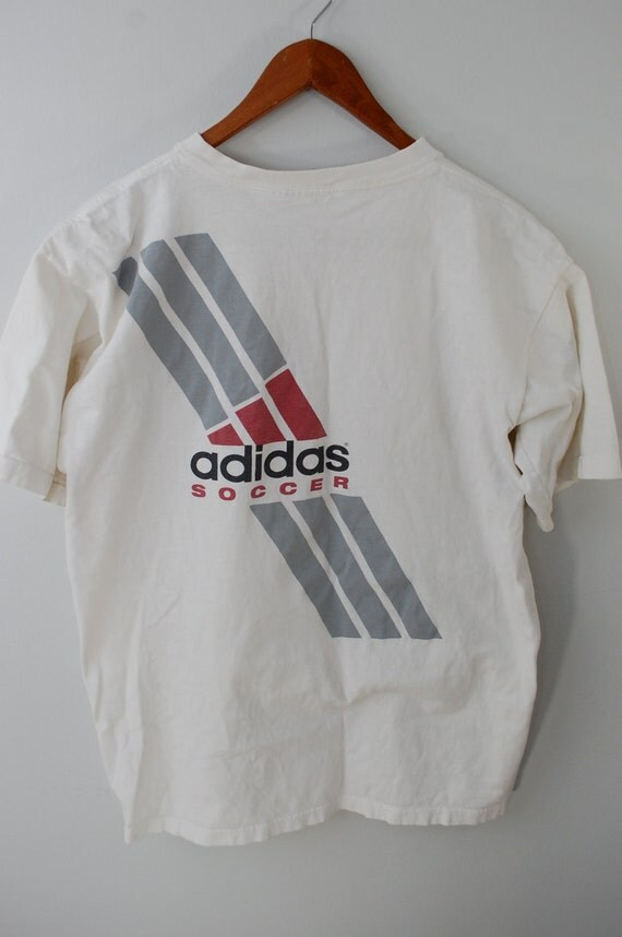 Vintage ADIDAS Soccer t-shirt Sz. Medium 1980's Made In USA