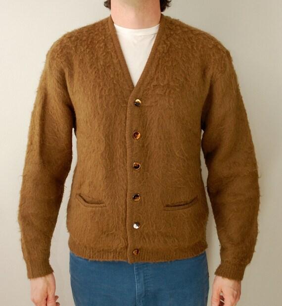 Vintage MOHAIR CARDIGAN Sweater 1960's Schmitt-Orlow Stumpfs Milwaukee
