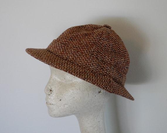 Vintage HARRIS TWEED Wool Hat Made in SCOTLAND Size Large