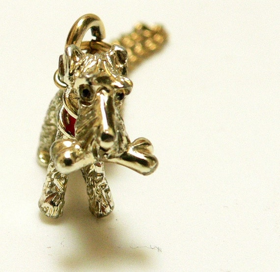 Bracelet Gilded Scottie Dog Charm 1950s