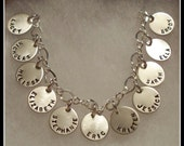 Grandmothers Bracelet 11 Sterling Silver and Personalized Discs