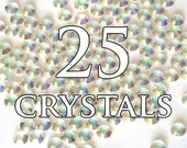 20ss Transmission AB Hot Fix Flat Back Swarovski Crystals - 25 pieces