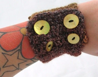 Crochet chunky Noro cuff