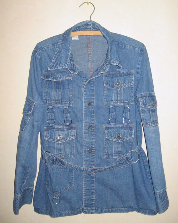 Vintage 1960s tricked out jean shirt