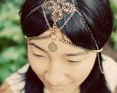 Aurora Chain headdress, tribal brass chains