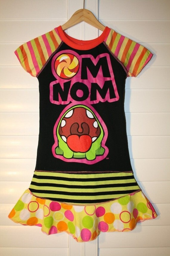 CUT THE ROPE. recycled upcycled repurposed and pieced dress or tunic size 7