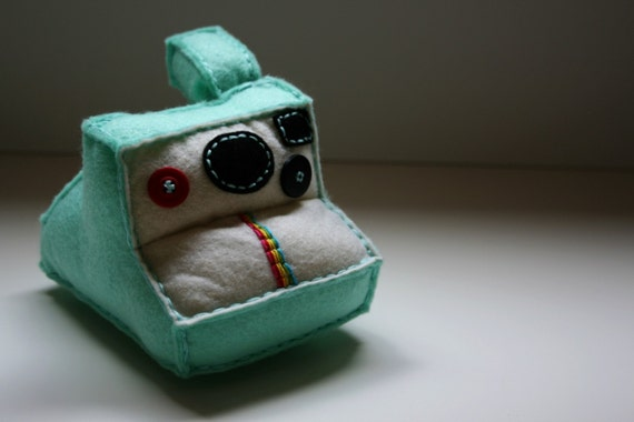 Aqua Polaroid Plush Camera