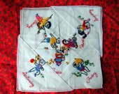 Vintage embroided handkerchief for a week - set of 7