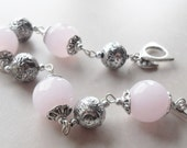 Light Pink and Silver Bracelet