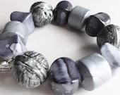 Sale 25% Reduced, Vintage Grey Days Bracelet