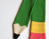 Lambswool Green Pencil Scarf