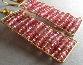 Abacus - Pink Mystic Quartz Earrings