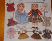 Simplicity Doll pattern fits American Girl- dresses