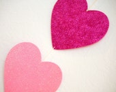 Three-Heart Sparkly Garland - Valentine's Day Banner Door or Wall Hanging