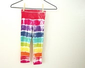 Tie Dye Girls Leggings - Funky Rainbow for Toddlers - Pick A Size Tie Dyed Leggings
