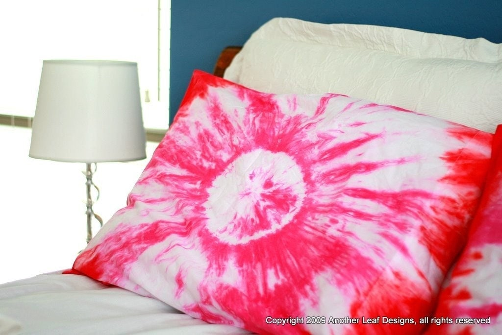 Tie Dye Pillow Cases Pick A Color Set Of 2 Bulls By