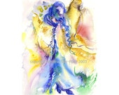Angel of Love - fine art (giclee) print limited edition of my original painting