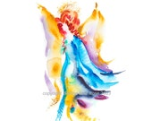 Angel of Freedom - invite the freedom of an angel - fine art (giclee) limited edition print of my original painting