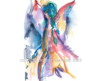 Angel of Courage - Fine art limited edition (giclee) print of my original painting