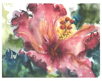 Pink Summer - giclee print of my original painting