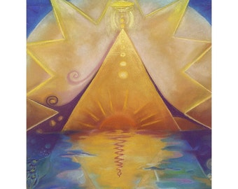 Great Lakes Pyramid - fine art (giclee) print of my original painting