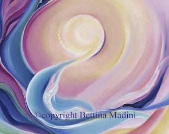 Dolphin Sun - original acrylic painting