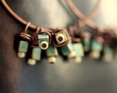 Boho Tropical Earrings - Miyuki Cubes and Copper - Maui Earrings