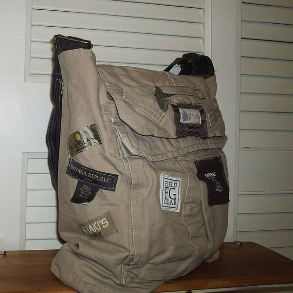 OOAK Handmade Deconstructed Cargo Bag SHOW Me Your Labels