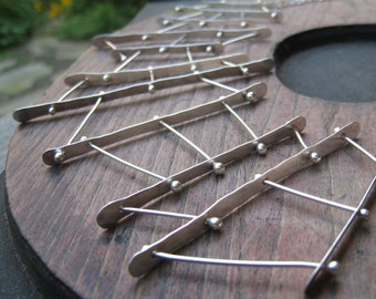Connections necklace, architectural inspired art sculpture