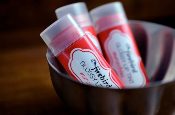 Maraschino Glossy Lip Tint - Tinted Lip Balm - Cherry Red