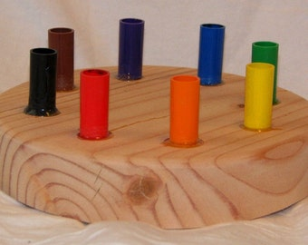 Wooden Marker Holder fits 8 Crayola Markers