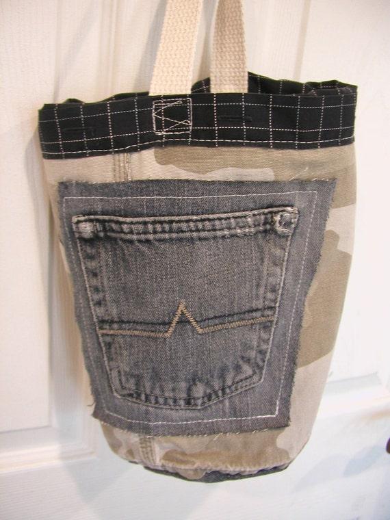 Little Boys Tote Bag Fabric Bucket SUMMER SALE