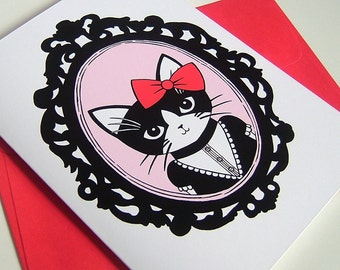 Fancy Kitty Greeting Card
