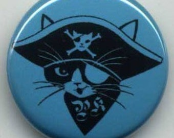 Pirate Kitty Buttons Set of Four
