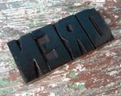 vintage letterpress blocks . nerd