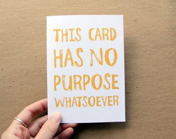oops clearance sale . funny no purpose card for all occasions . choose your color
