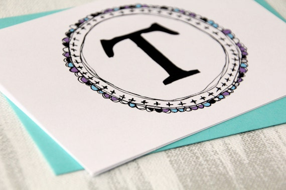 personalized stationery graduation gift custom monogram initial cards 10 cards black purple blue letterhappy etsy