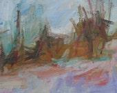 Winter Rt 90 II GICLEE Art PRINT 8 x 11 snow winter road