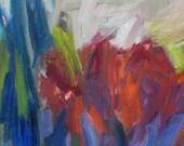 Sedum GICLEE ART PRINT 11 x 17 abstract gardens red purple blue teal