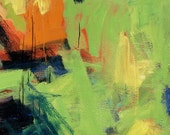 Green Tomatoes GICLEE ART PRINT 8x11 abstract still life tomatoes summer