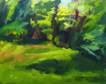 GICLEE PRINT DUO  Italian Landscape green pink yellow