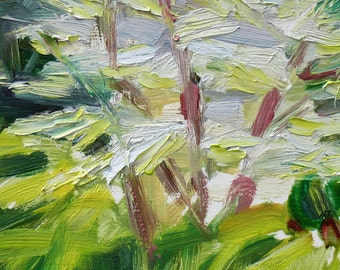 Dogwood GICLEE ART PRINT 8 x 11 trees spring white green abstract