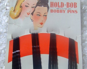 GAYLA   vintage bobby pins still on original card , 30 pins,